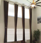 Drapes on Short Rods